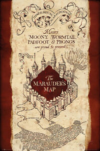 Harry Potter- Marauder'S Map Poster Print, 24x36