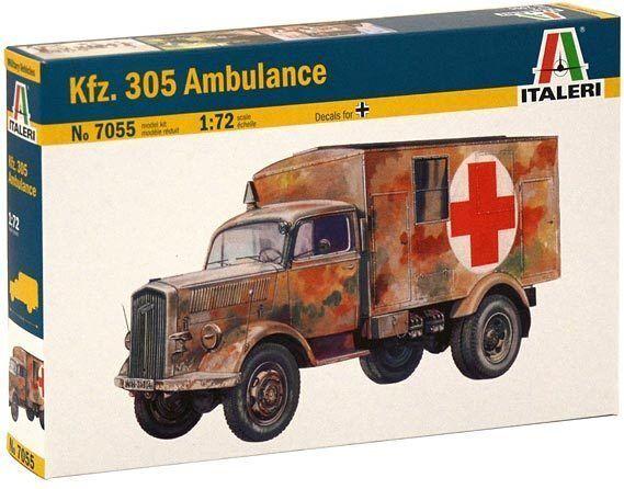 Italeri 1:72 7055: Ambulancia Sd.Kfz.305