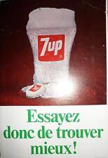 """Vintage 1968 7up Pop Soda Poster 7-Up Essayez donc de trouver mieux! 12"""" x 18"""""""