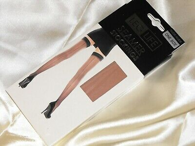 LegLife Lace top Stockings COLOUR Natural  One Size 15 denier