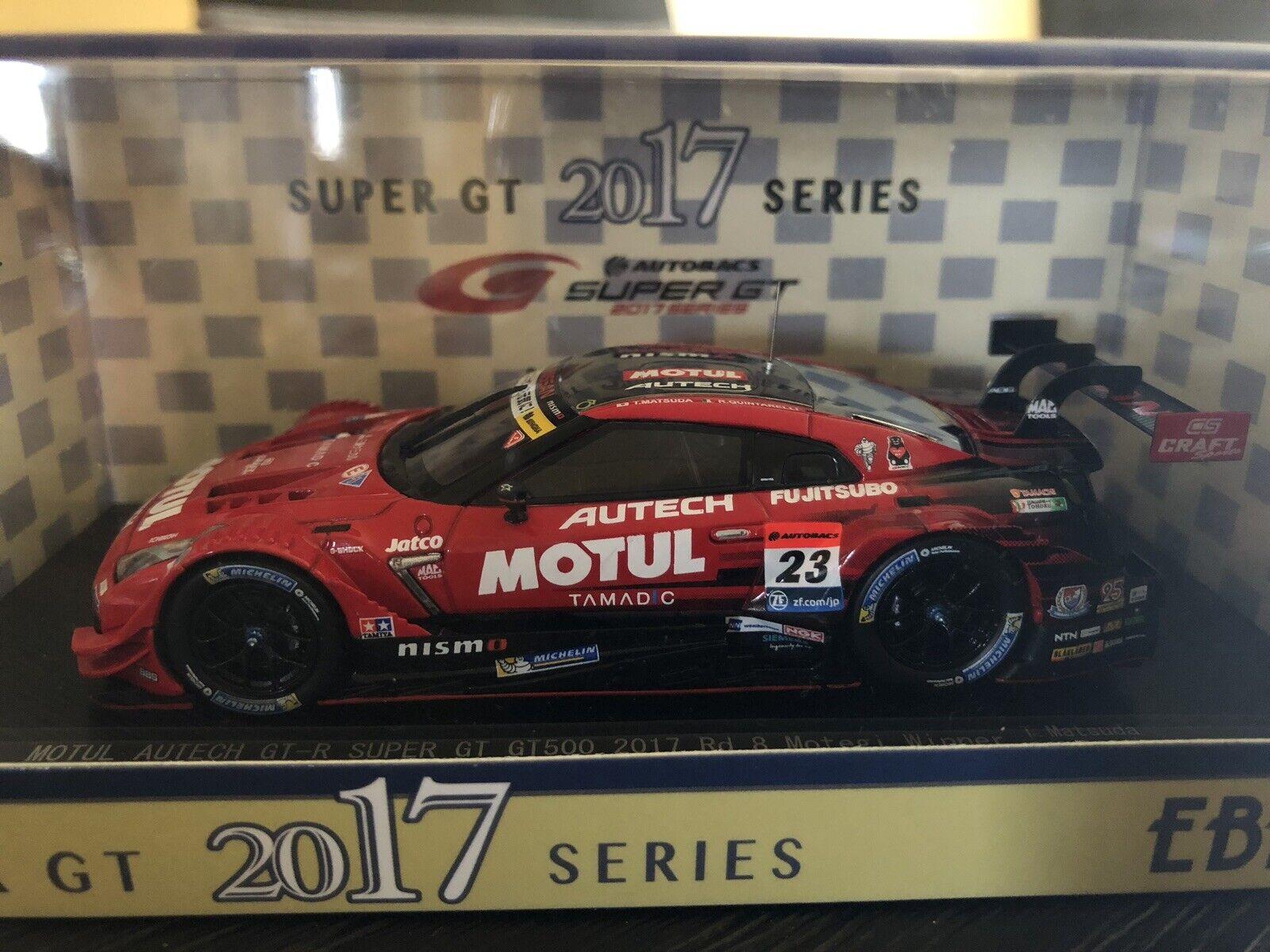 EBBRO 45504 1 43 2017 Nissan Motul Autech GT-R super GT GT500 RD 8 Motegi vainqueur