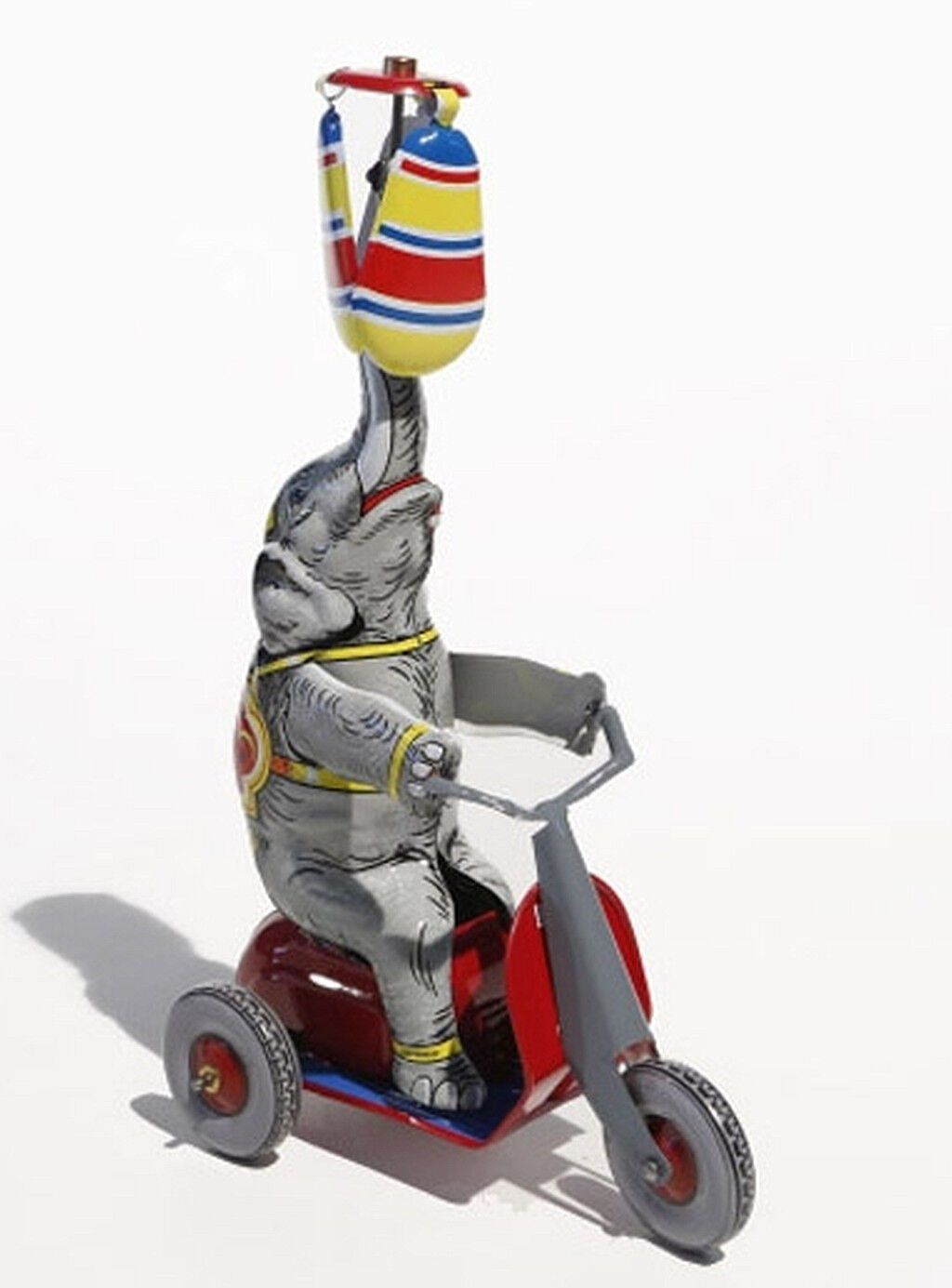 Elephant on Tricycle with Propeller Tin Toy - Made in Germany Nostalgia