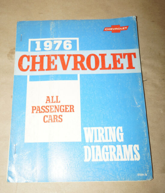 1976 Chevrolet All Passenger Cars Wiring Diagrams Service ...