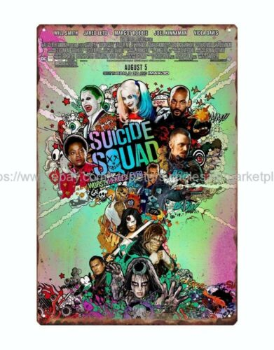 Suicide Squad Movie Poster metal tin sign reproductions wholesale