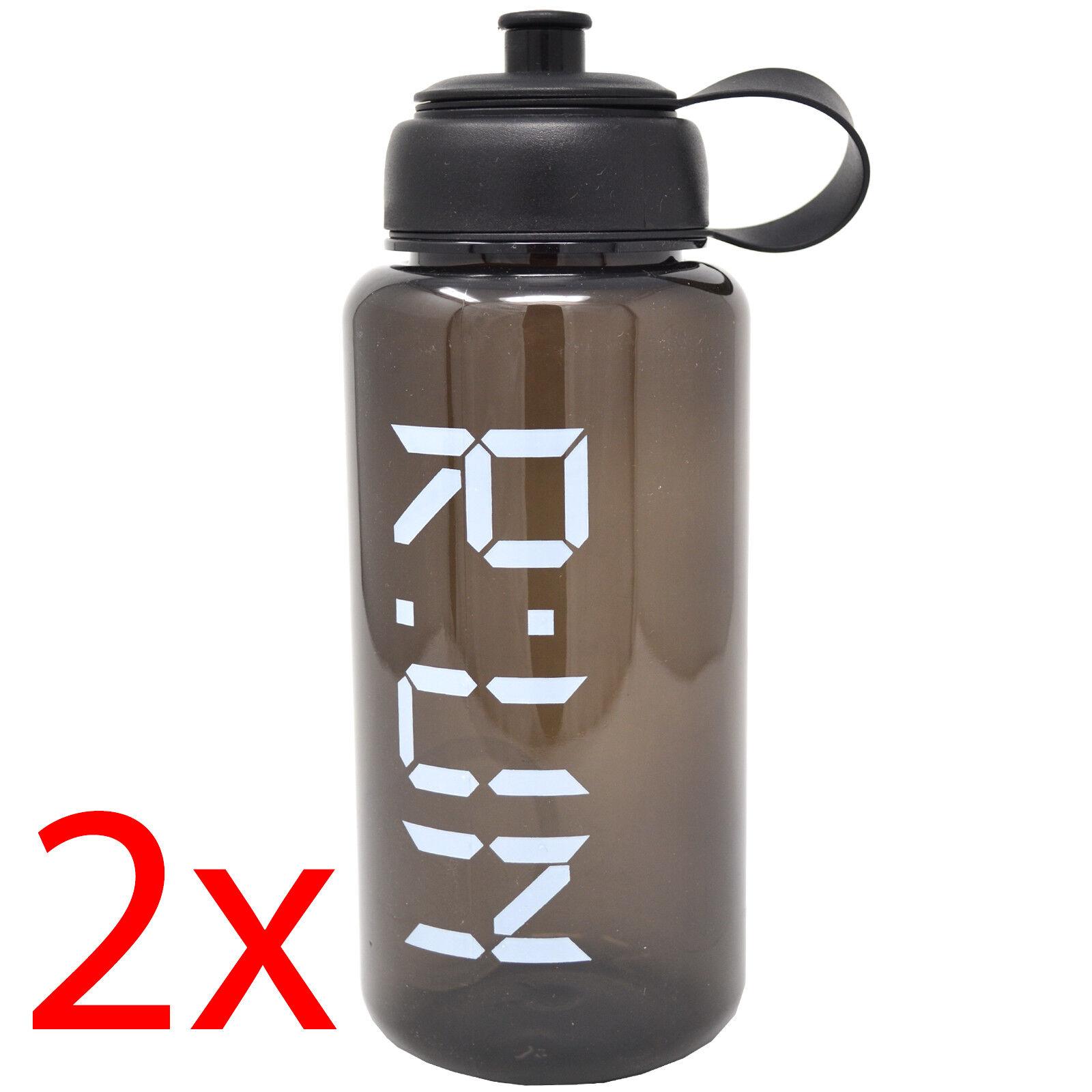 2 X RUN WATER GYM BOTTLE 1L Laufen SPORT TRAINING HYDRATION Radfahren BPA FREE