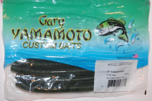 """GARY YAMAMOTO 4 /"""" SENKO YAMASENKO 9S-10-042 WATERMELON STICK BAIT FISHING"""