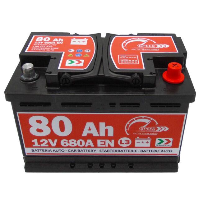 BATTERIA AUTO SPEED L3 80 Ah 680A EN = FIAMM 74 DX + PRONTA ALL'USO