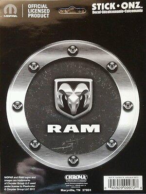 Chroma 009972 Dodge RAM Logo Machined Look Stick Onz Decal