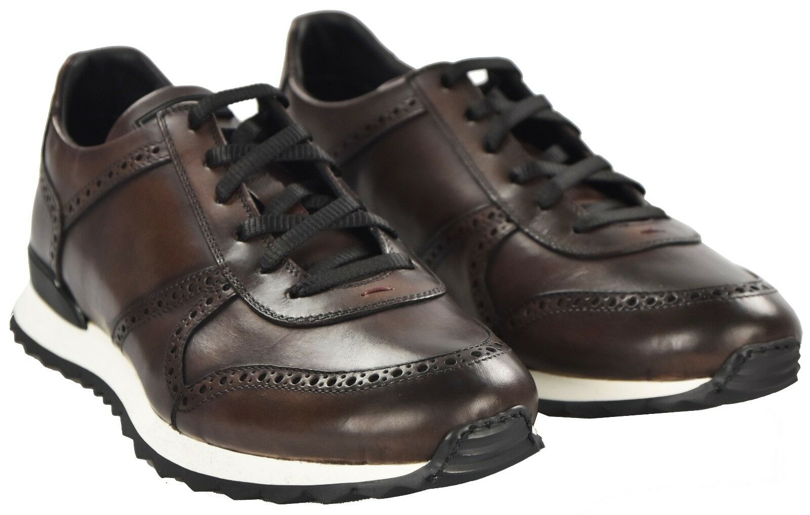 NEW KITON SHOES SNEAKERS 100% LEATHER SIZE 9 US 42 EU 18KSCW5