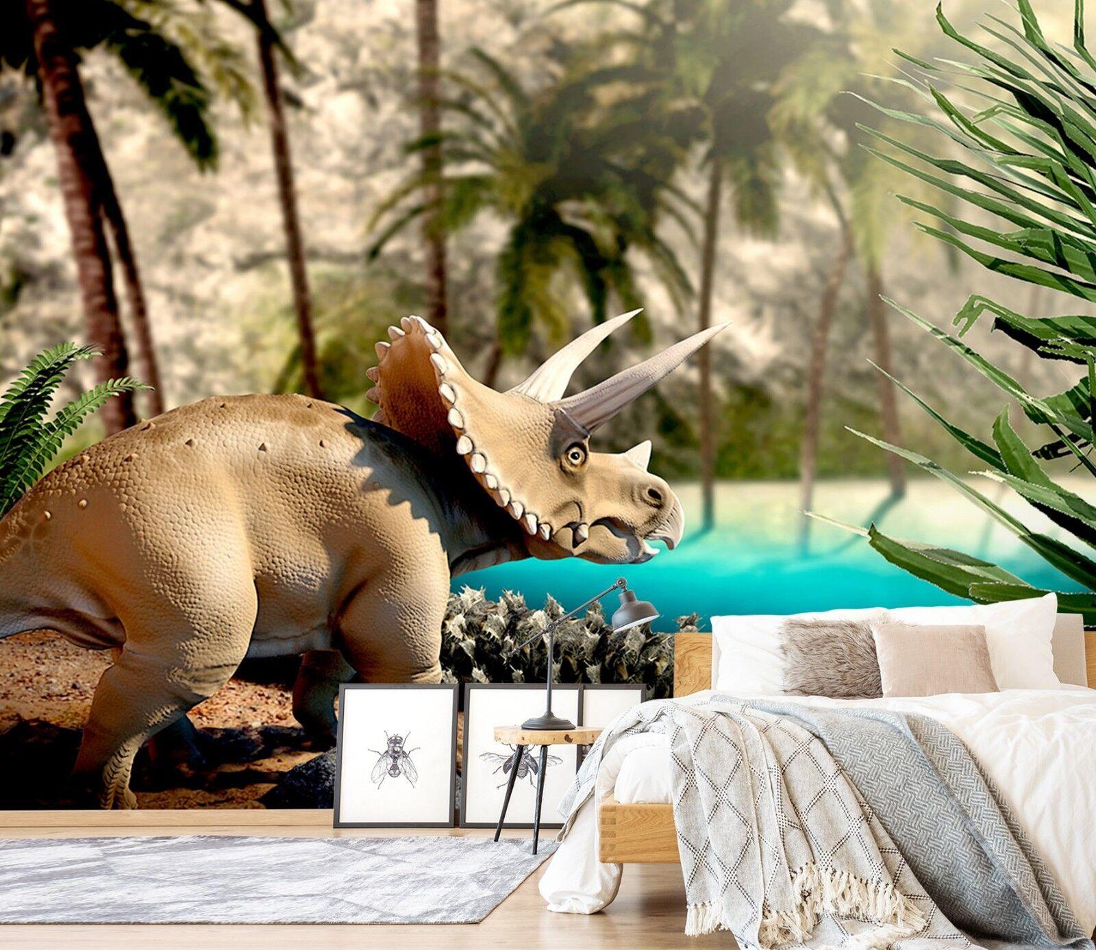 3D Dense Rainforest Dinosaur  3 Wallpaper Mural Wall Print Decal Indoor Mural AU