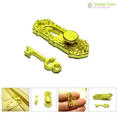 DOLLHOUSE MINIATURE COLLECTIBLE Building Materials Hardware GOLD DOOR KNOCKER