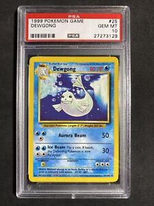 ?Pokemon PSA 10 Base Set Unlimited Non Holo Gem Mint Dewgong #25
