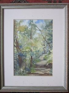 Original-signed-watercolour-painting-of-Conache-Peru-Forest-by-Irene-Ward-1996