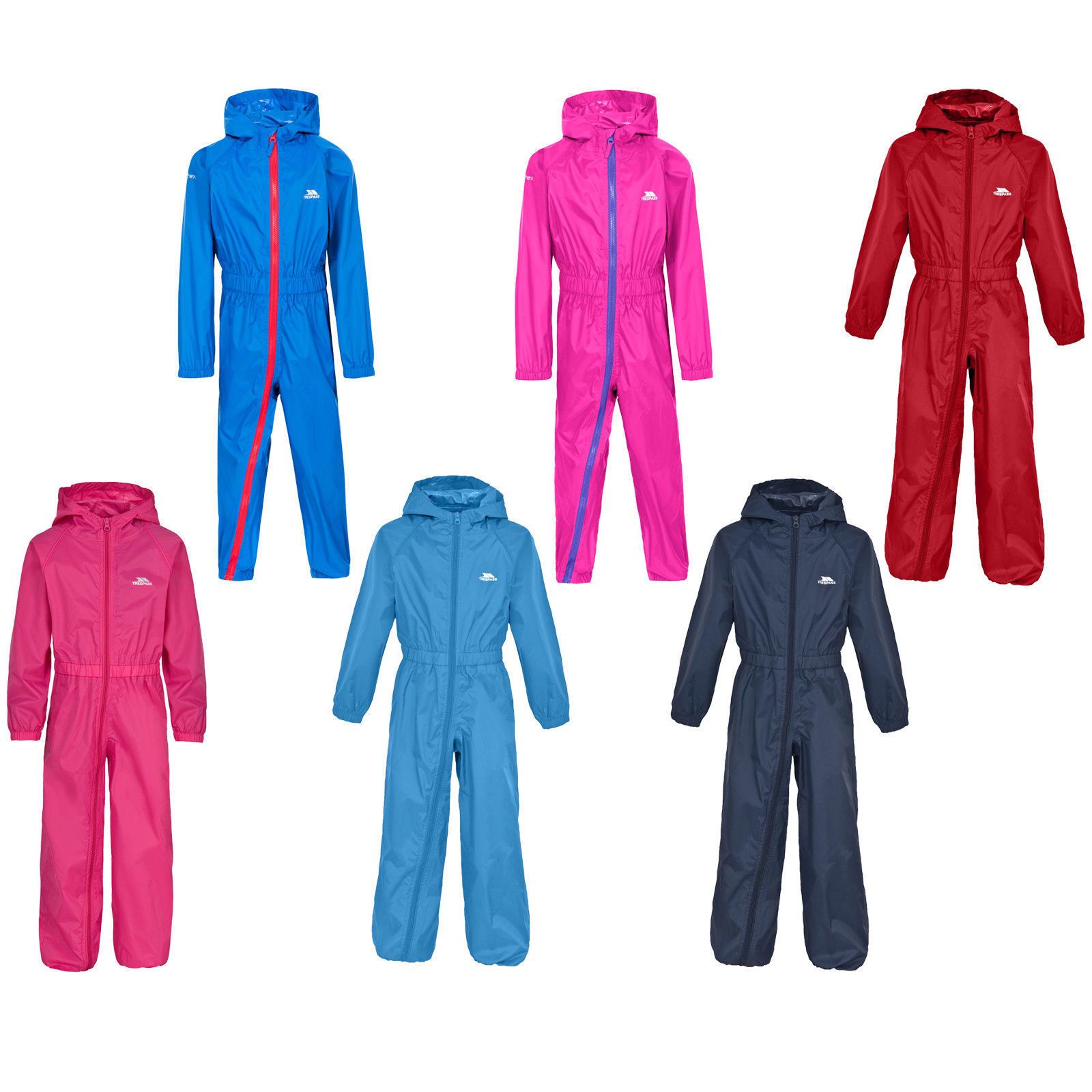 Waterproof Rainsuit 5-6 Yrs Bright Red DRY KIDS