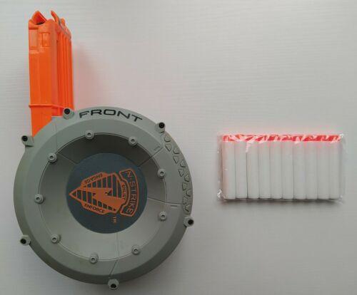 Nerf N-Strike Elite 35 Drum Grey Plus 40 Darts//Bullets.