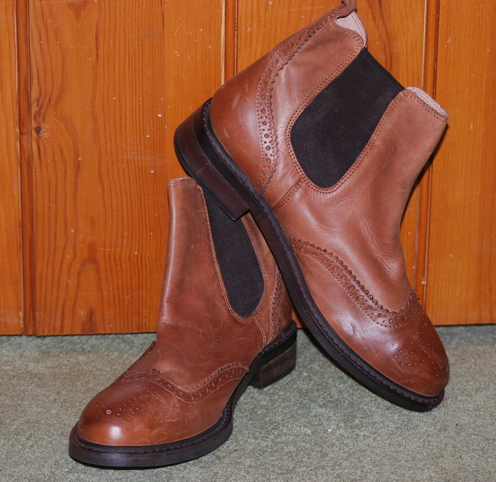 BN, Office, Men's, Boys, Tan, Leather, Chelsea Boots, size 8 (41)