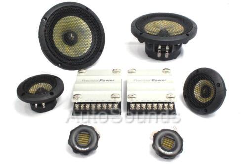 "Precision Power P.65C3 3/"" 6-1//2/"" 3-Way Car Component Speaker System 6.5/"" 1.75/"""