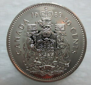 Canada 1989 Proof Like Fifty Cent Piece!!