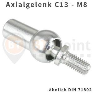 Axialgelenk-C13-M8-DIN71802-verzinkt-Axial-Gelenk-Kugel-Pfanne-Axialkugelpfanne