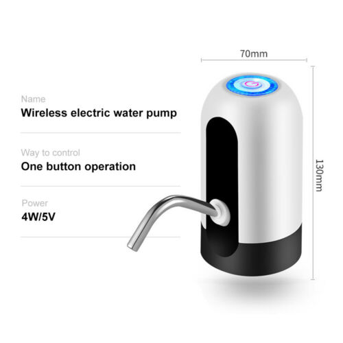Automatic Electric Water Pump Dispenser Gallon Portable USB Bottle Drinking