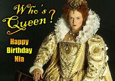 Blackadder Miranda Richardson Cumpleaños Personalizado tarjeta de arte Queenie que de la Reina