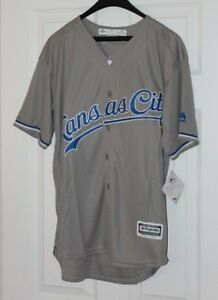 new style 53e16 91aa2 Details about Salvador Perez #13 Kansas City Royals Gray Jersey XL