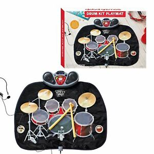 Details about Global Gizmos Childs Drum Kit Playmat with MP3 Games Fun Toy