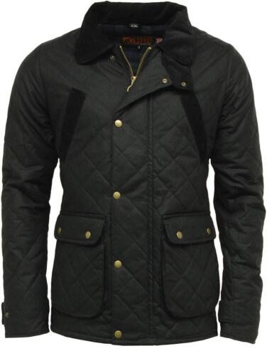 Black Mens GAME OXFORD British Made Quilted Wax Jacket