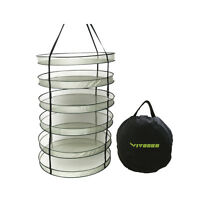 32/ 24 Detachable 6 Tiers Hanging Herb Drying Rack Plant Dryer Net Hydroponics