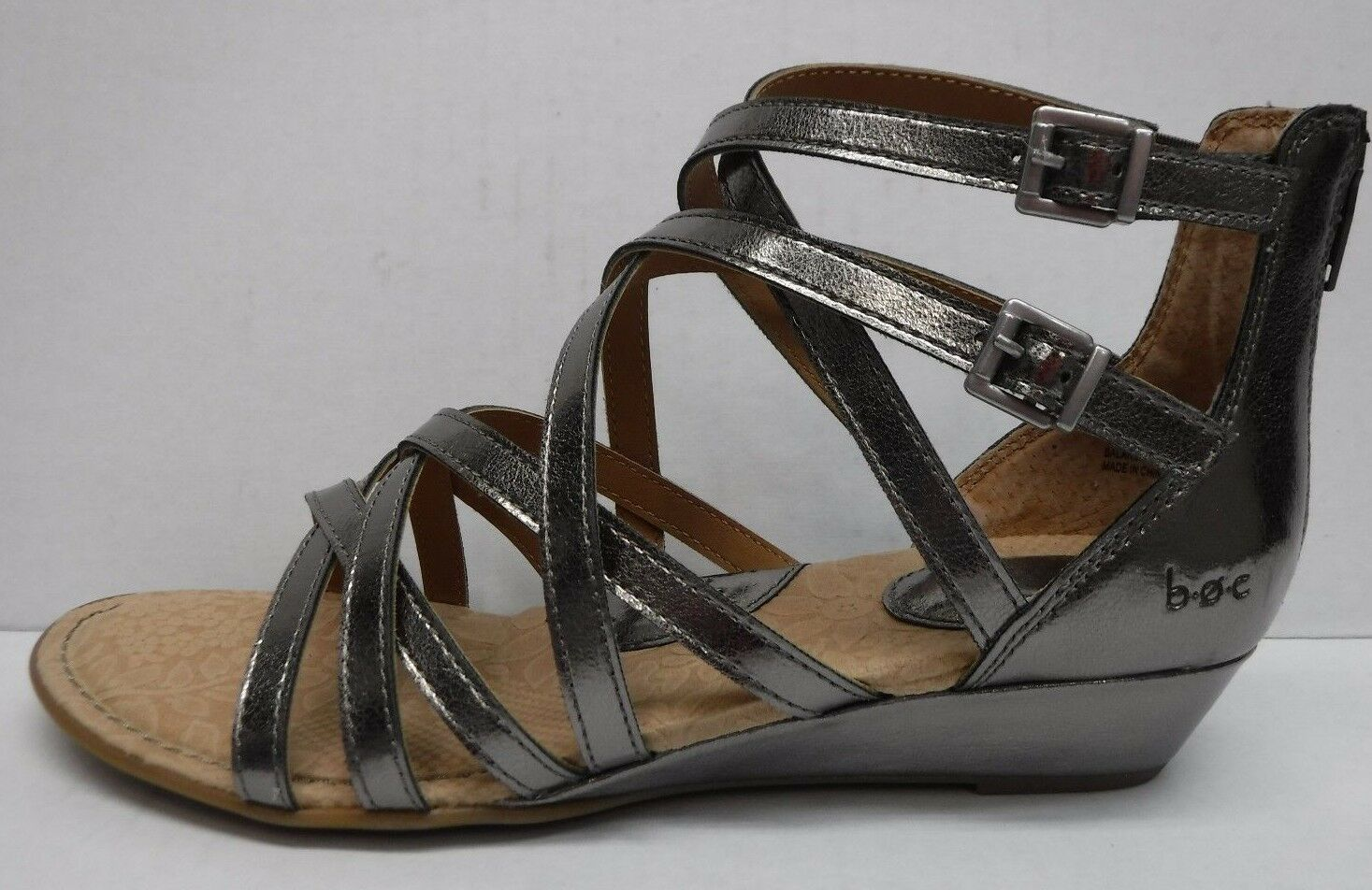 B.o.c Born Concepts Size 9 Pewter Gladiator Sandals New Donna Shoes