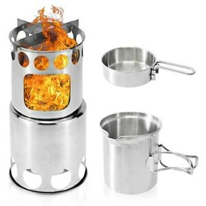 Stainless-Steel-Portable-Outdoor-Windproof-Firewood-Stove-Pot-Cookware-Set