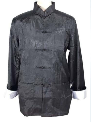 Black Burgundy blue Chinese men/'s silk kung fu suit pajamas SZ M L XL 2XL 3XL