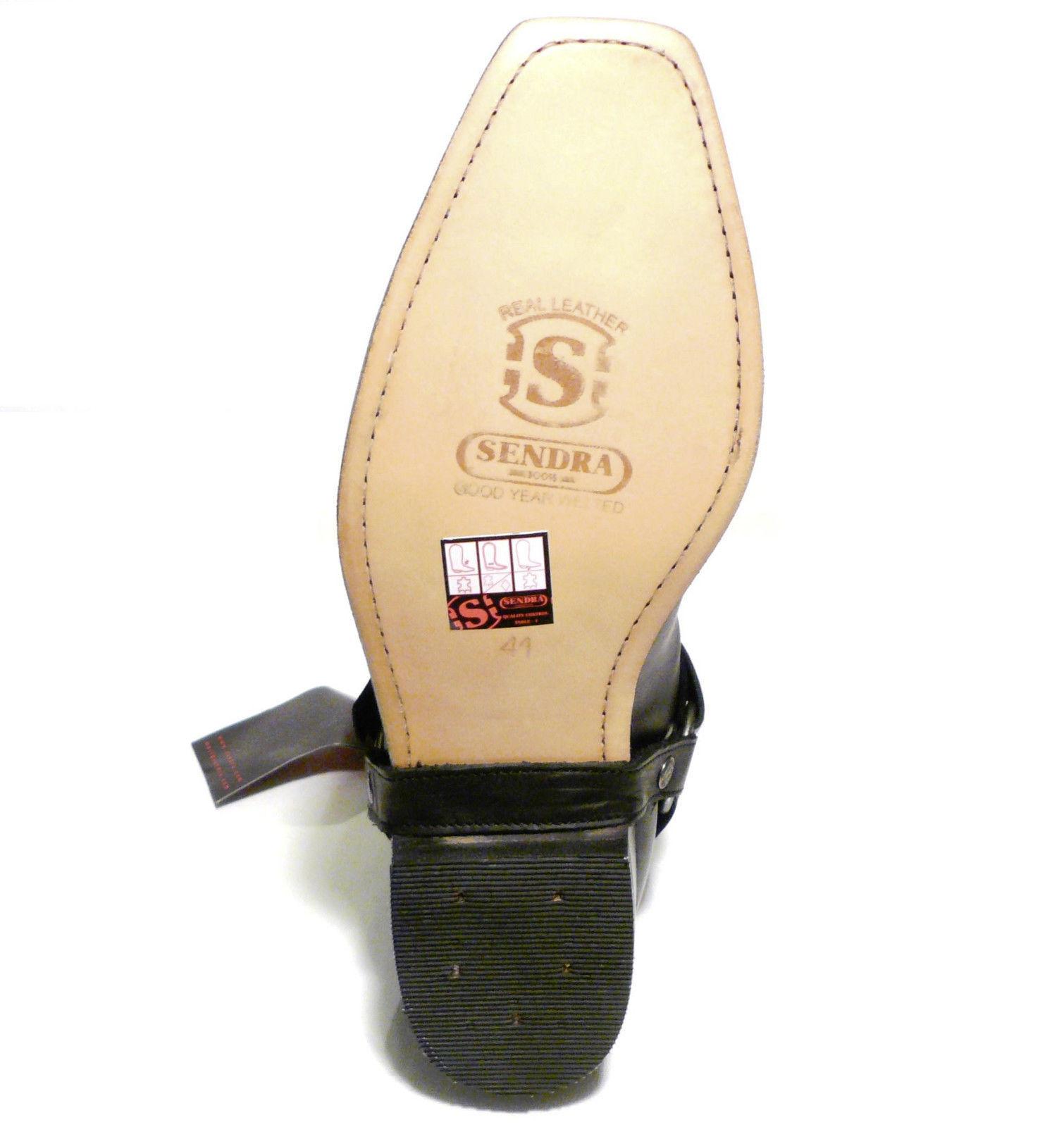 Sendra Stiefel 6445 Cowboystiefel Westernstiefel Motorradstiefel Biker 6445 Stiefel Schwarz c553ad