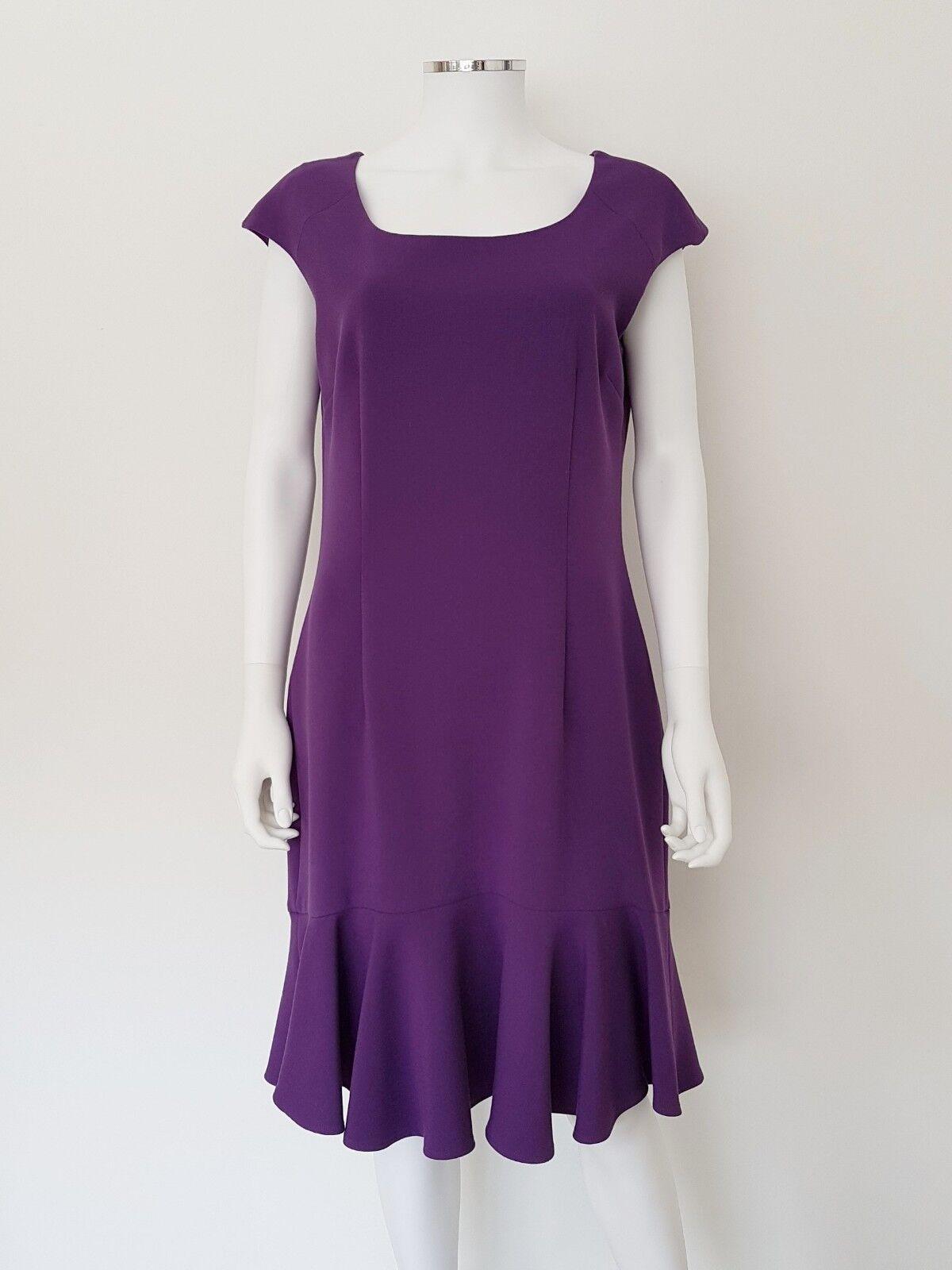 14 16 JAEGER lila Peplum Hem Dress with Cap Sleeve & Stretch Comfort   Wedding