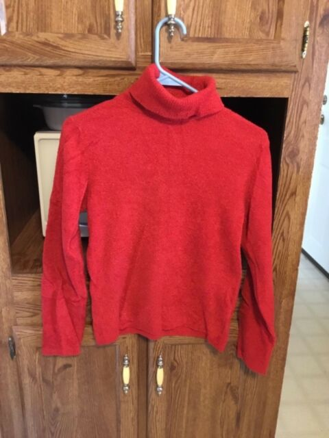 a089eaa8ae Women s fleece top turtleneck sweater by Cato size medium red