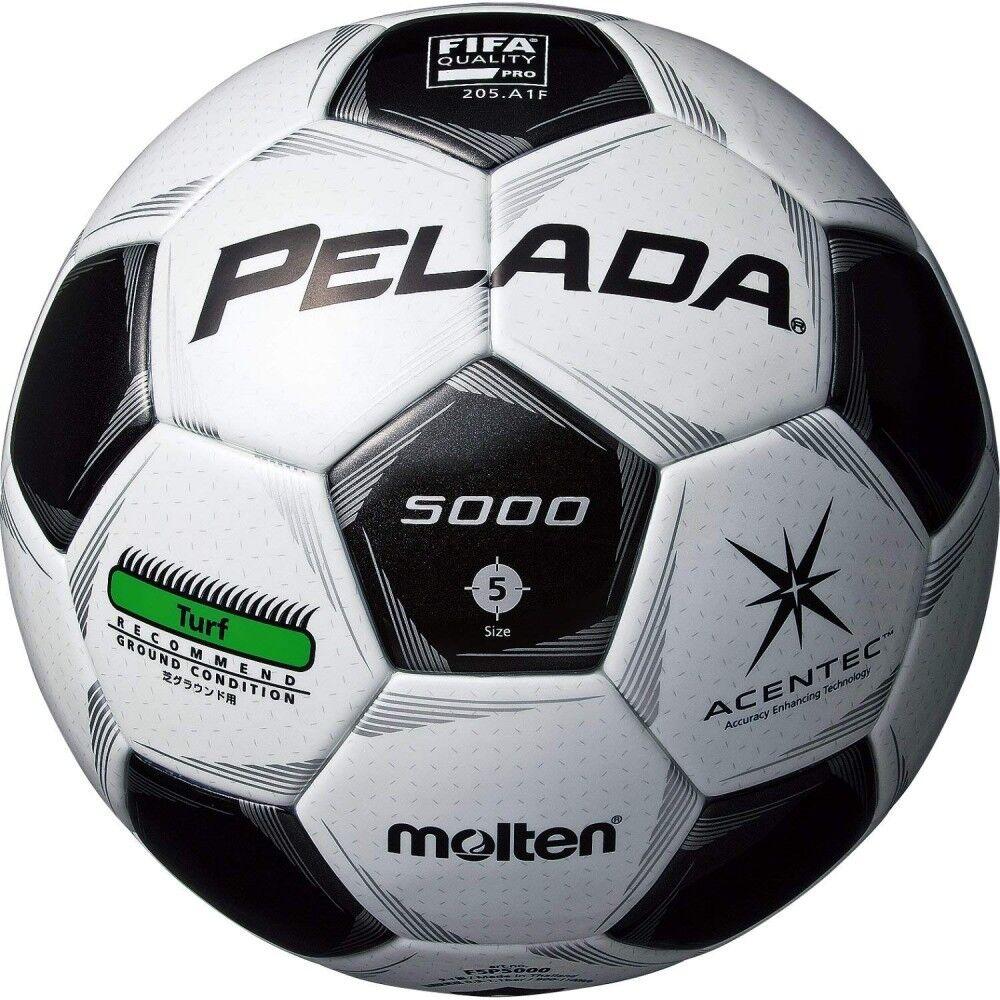 Nuevo Molten Fútbol Balón Pelada Acentec 5000 Césped Fifa Aprobado Talla 5