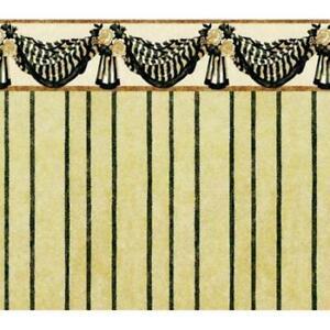 Casa De Muñecas Benjamin Swag Beige Estampado En Miniatura 1:12 escala Wallpaper 3 Hojas