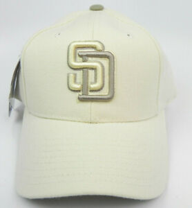 SAN DIEGO PADRES PUMA ATA MLB VINTAGE SNAPBACK OFF-WHITE CAP HAT NEW! NOS RARE!