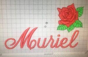 Rose EMBROIDERED monogrammed PERSONALISED- GIFT- Mum - Nan - PLUSH Bath Towel