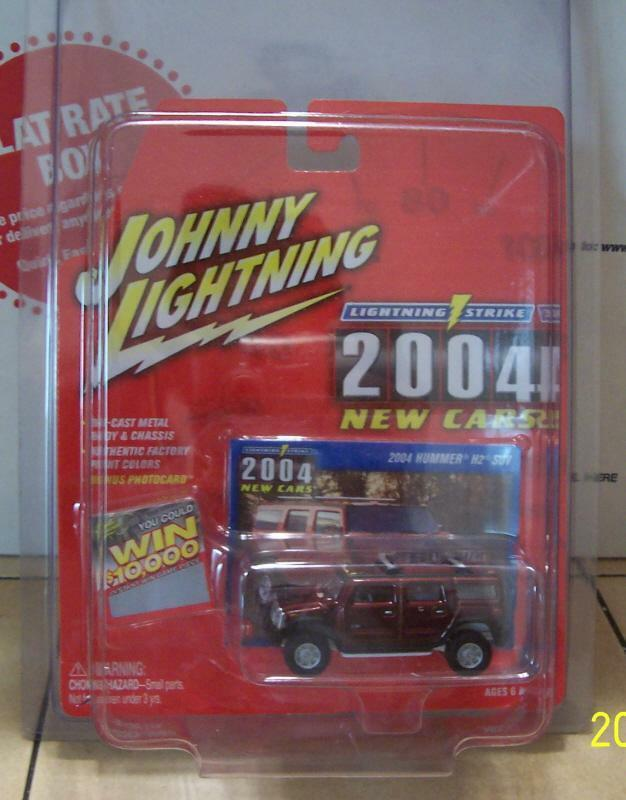Johnny Lightning Strike 04 Hummer H2 WHITE LIGHTNING Super RARE