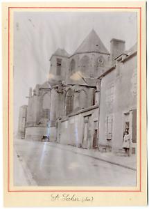 France-Saint-Satur-eglise-abbatiale-vintage-silver-print-Tirage-argentiqu