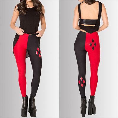 New Sexy Womens Casual Slim Stretch Harley Quinn Skinny Leggings Pants Slim