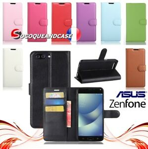 Etui-coque-housse-XCOLORS-PU-Leather-case-cover-gamme-Asus-Zenfone-All-models