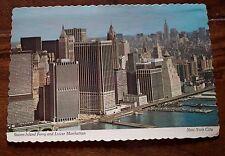 Post card Lower Manhattan staten Island ferry vintage