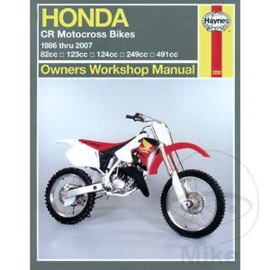 Honda CR 250 R 1987 Haynes Service Repair Manual 2222