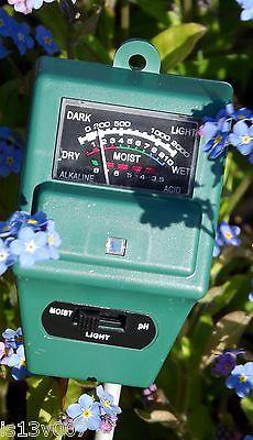3 In 1 Licht,ph Tester Boden Wasser U. Test Feuchtemessgerät Für Garten Pflanze