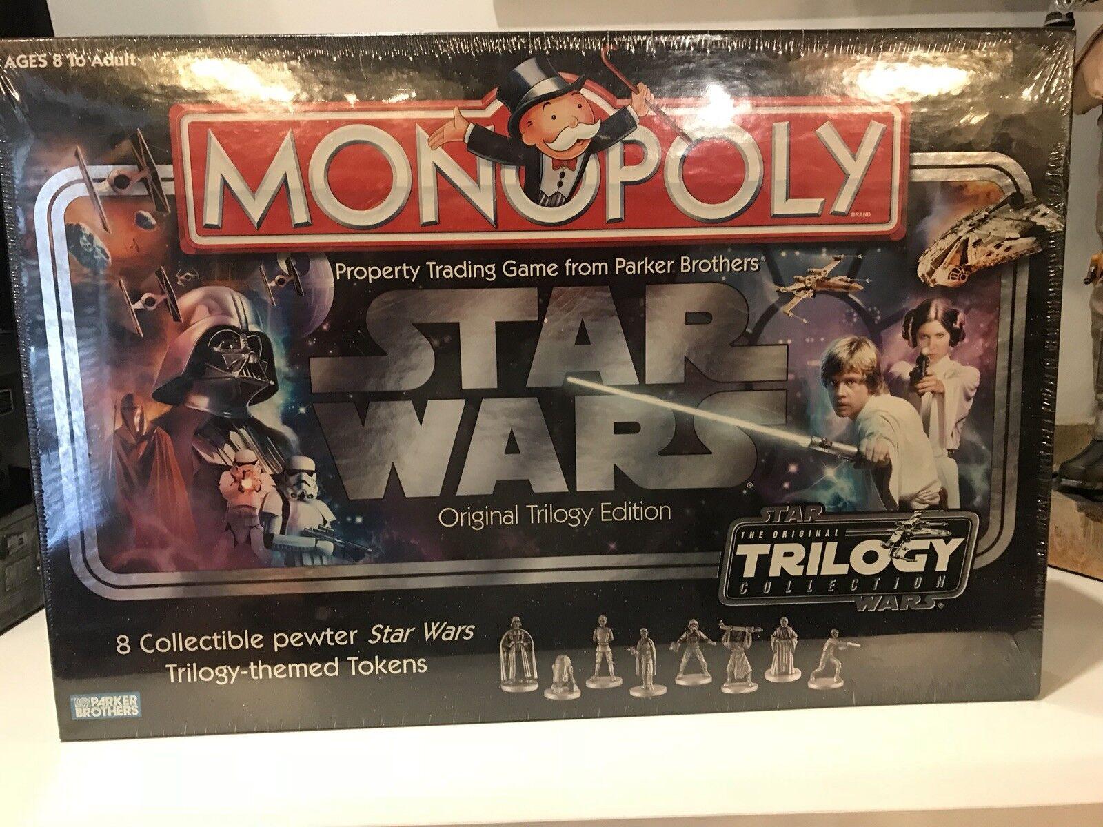Trilogía de la guerra de las galaxias monopolio Original Edición Juego de Mesa 8 fichas Peltre Sellado