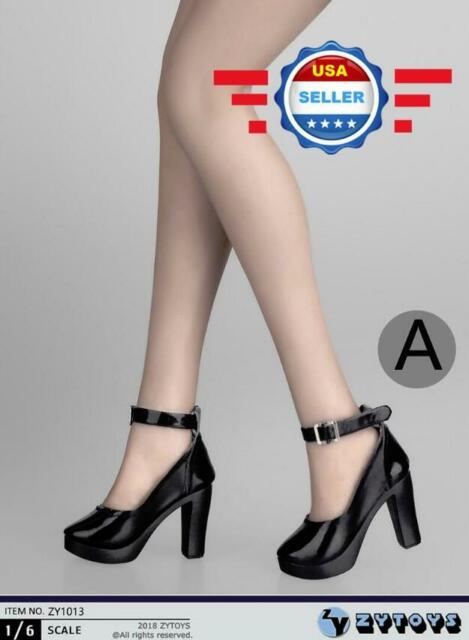 2 Pair 1//6 Scale High Shoes for   Female Action Figures Soldier Doll