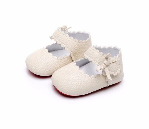 Newborn Baby Toddler Girl Crib Shoes Leather Prewalker Anti-slip Moccasins New