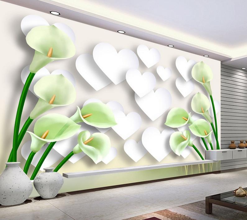3D Pflanzen Romantik Stil 863 Tapete Wandgemälde Tapete Tapeten Bild Familie DE